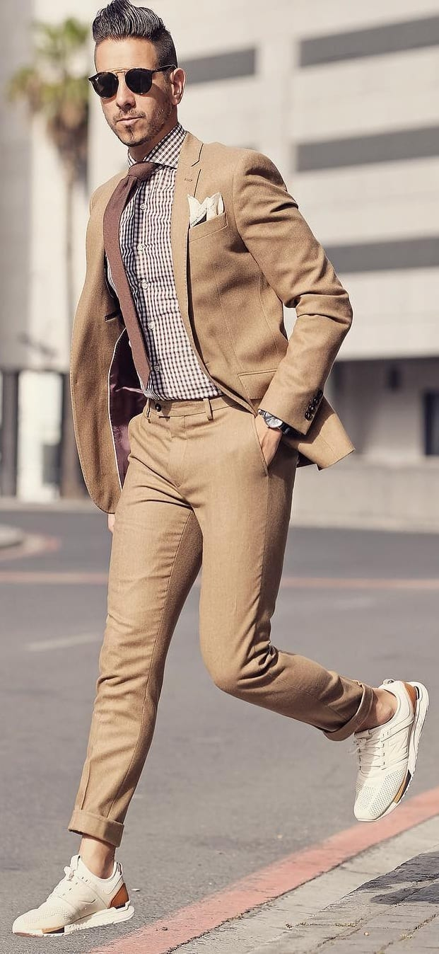 Khaki Suit Outfit Ideas For Men in 2019
