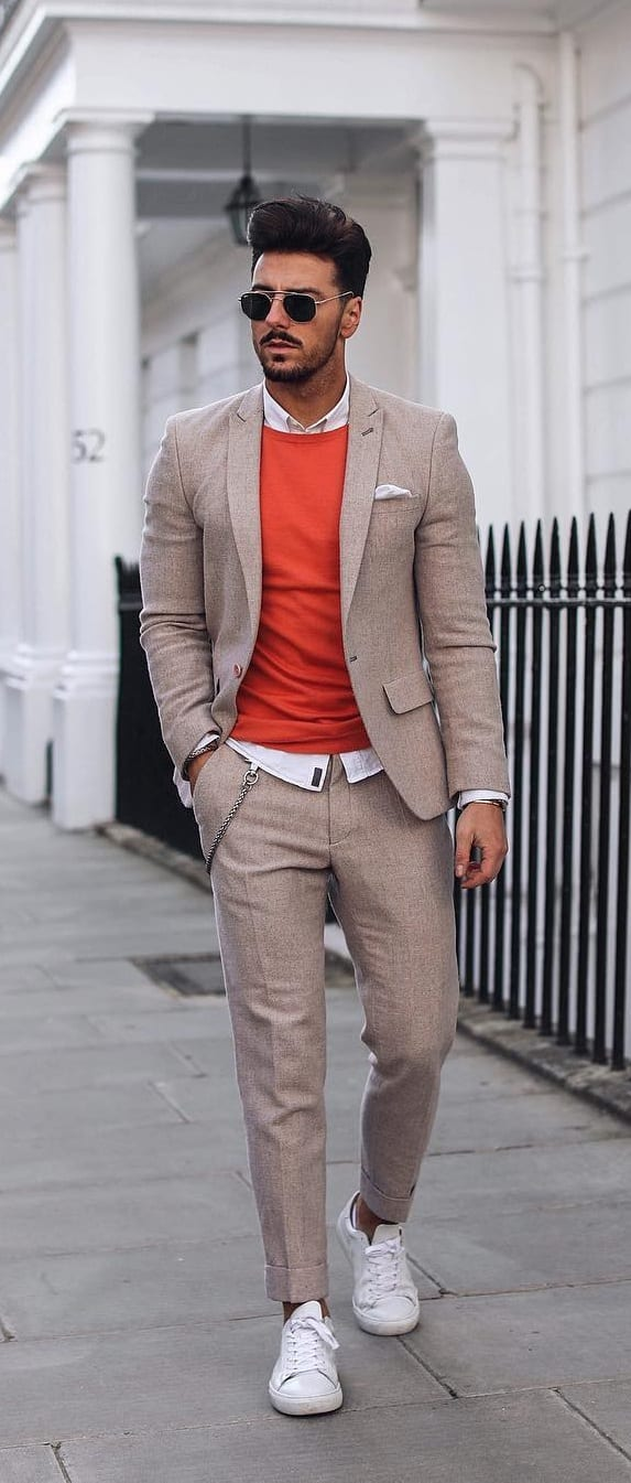Khaki Suit Outfit Ideas This Year