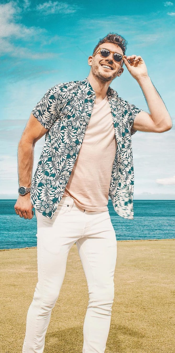 Stunning Short Sleeve Printed Shirt For Men In 2019