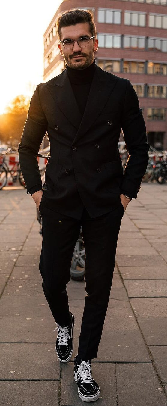 Stylish Black Suit Outfit Ideas For Men