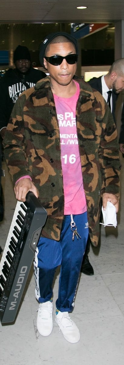 Pharrell Williams Airport Style