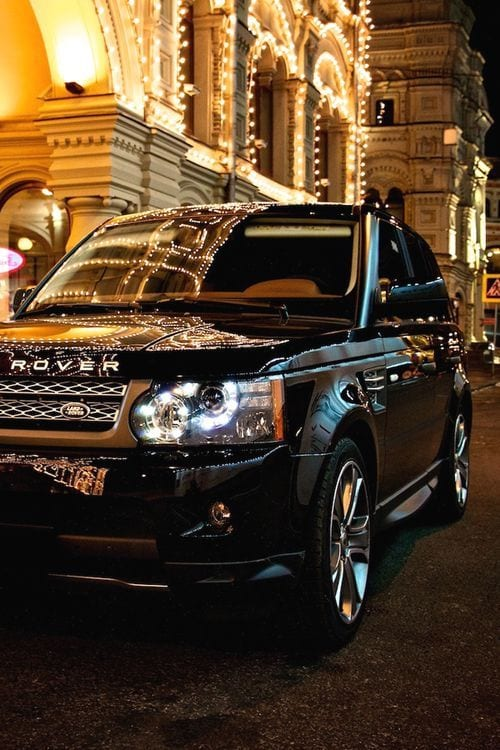 BLACK CHROME RANGE ROVER