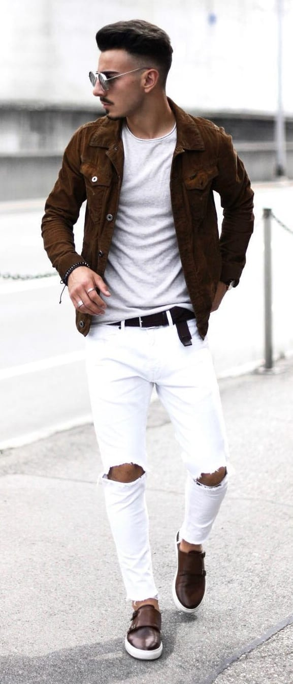 Cool White Jeans Outfit Ideas For Guys
