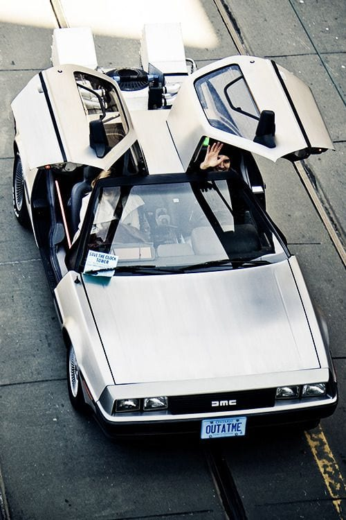 DMC delorean grey car