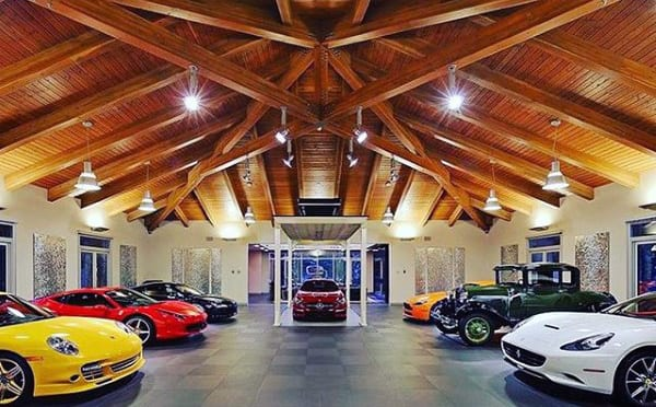 DREAM GARAGE WITH WOODEN FLOORING