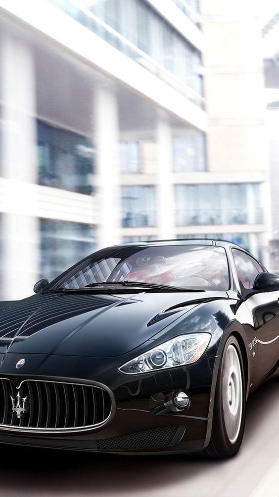 Maserati Granturismo S Black wallpaper