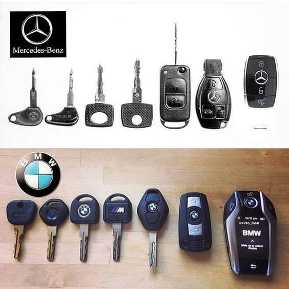 Mercedes Benz And BMW car keys