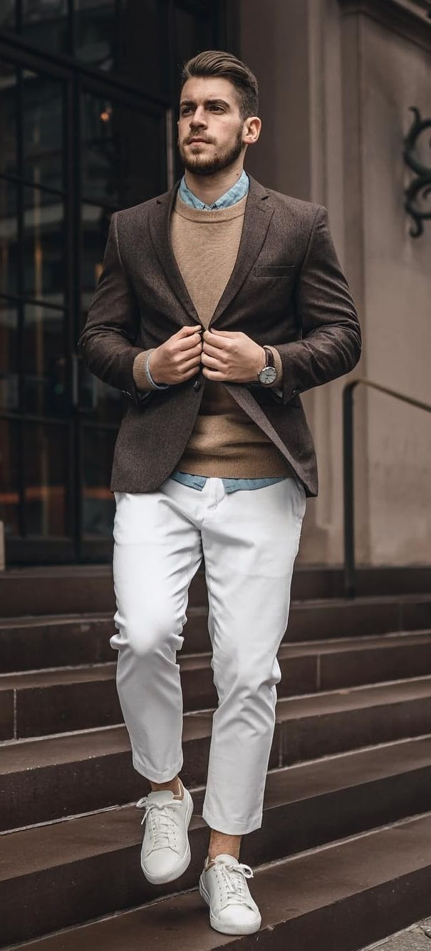 Stunning White Jeans Outfit Ideas For Men