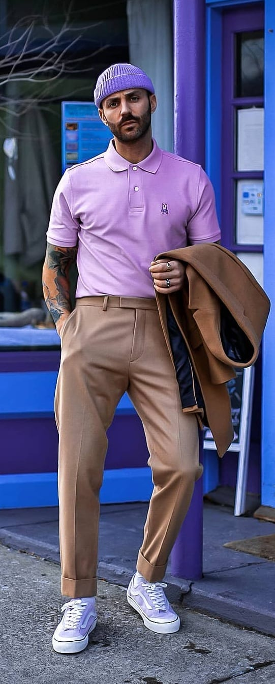 Stylish Polo T-shirt Outfit Ideas For Men