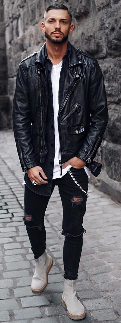Trendy Biker Jackets For Men