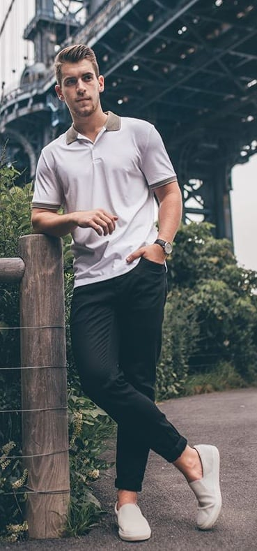 Trendy Polo T-shirt Outfit Ideas For Guys