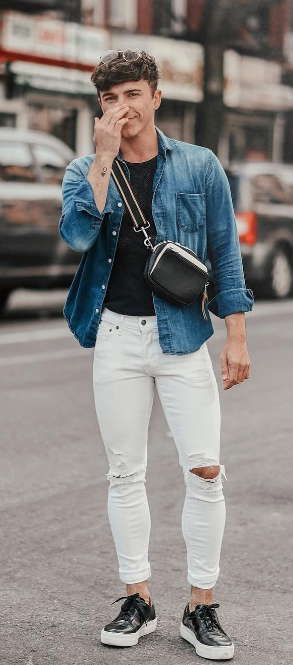 Trendy White Jeans Outfit Ideas For Guys