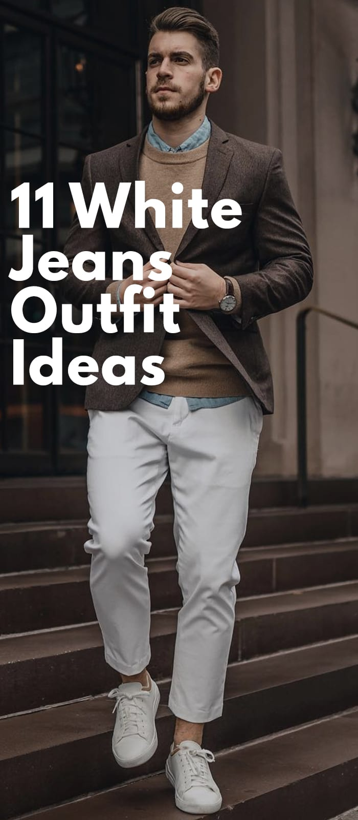 18aaf72829d White Jeans Outfits For Men. by Avatar Febin Bijoy April 10, 2019, 4:12 PM