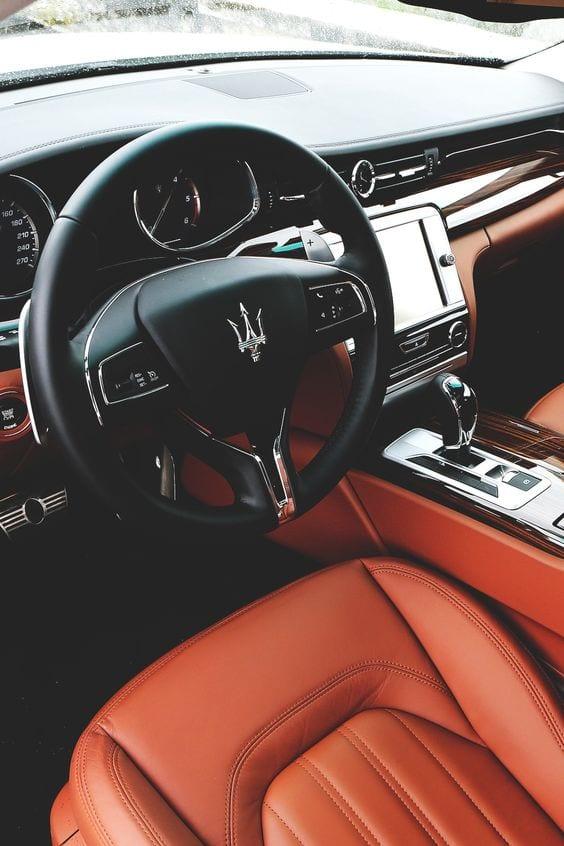 maserati luxury interior