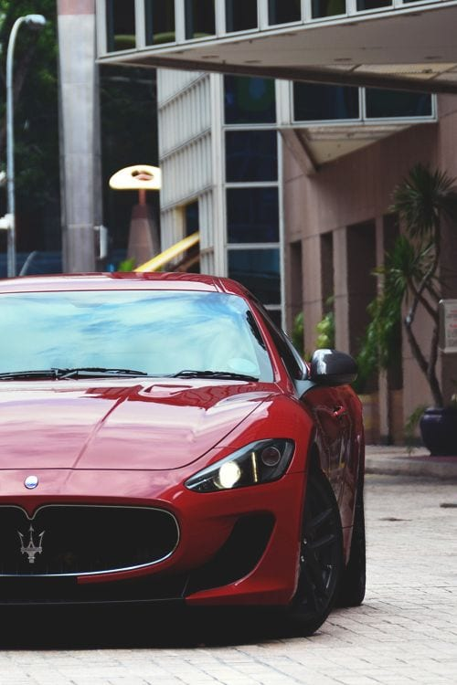 maserati red front wallpaper