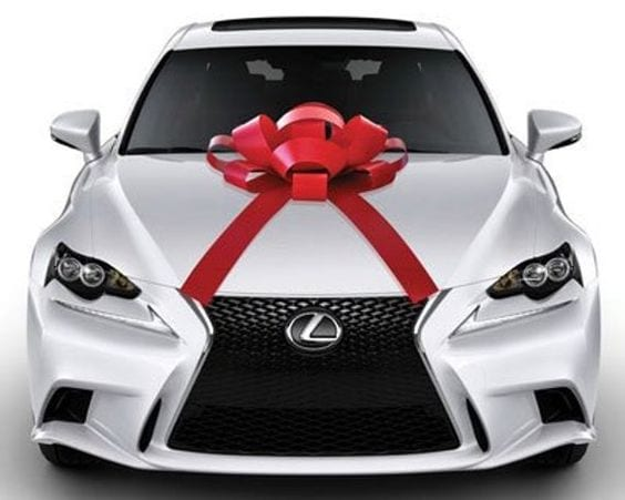 Lexus car with a bow