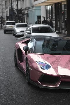 PINK LAMBORGHINI LUXURY CAR