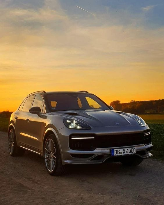 PORSCHE Cayenne SUNSET WALLPAPER