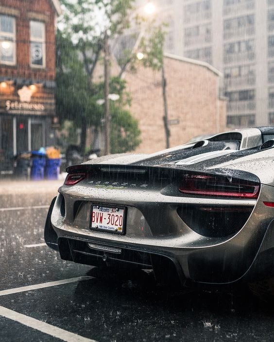 Porsche 918 spyder GREY WALLPAPER