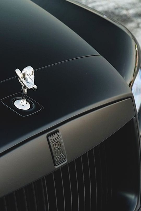 ROLLS ROYCE BLACK WITH SILVER LOGO