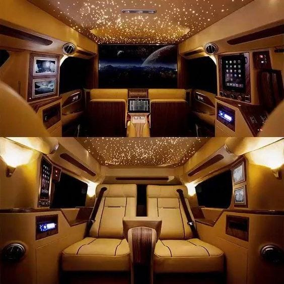 ROLLS ROYCE GOLD INTERIOR