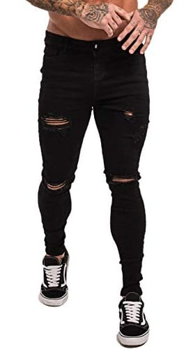The Trendy Black Ripped Denim for the Classy Men