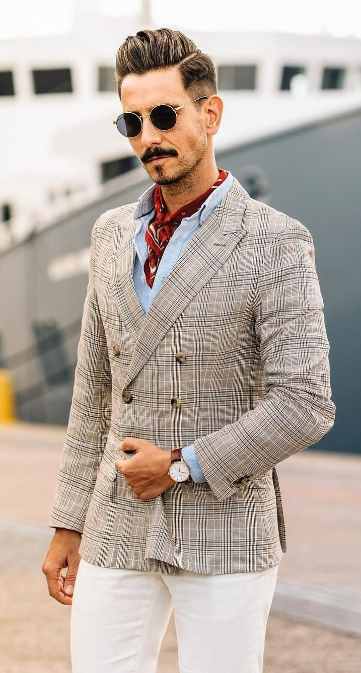 Suit look for yacht party