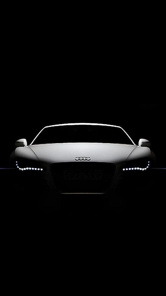 AUDI WHITE WALLPAPER