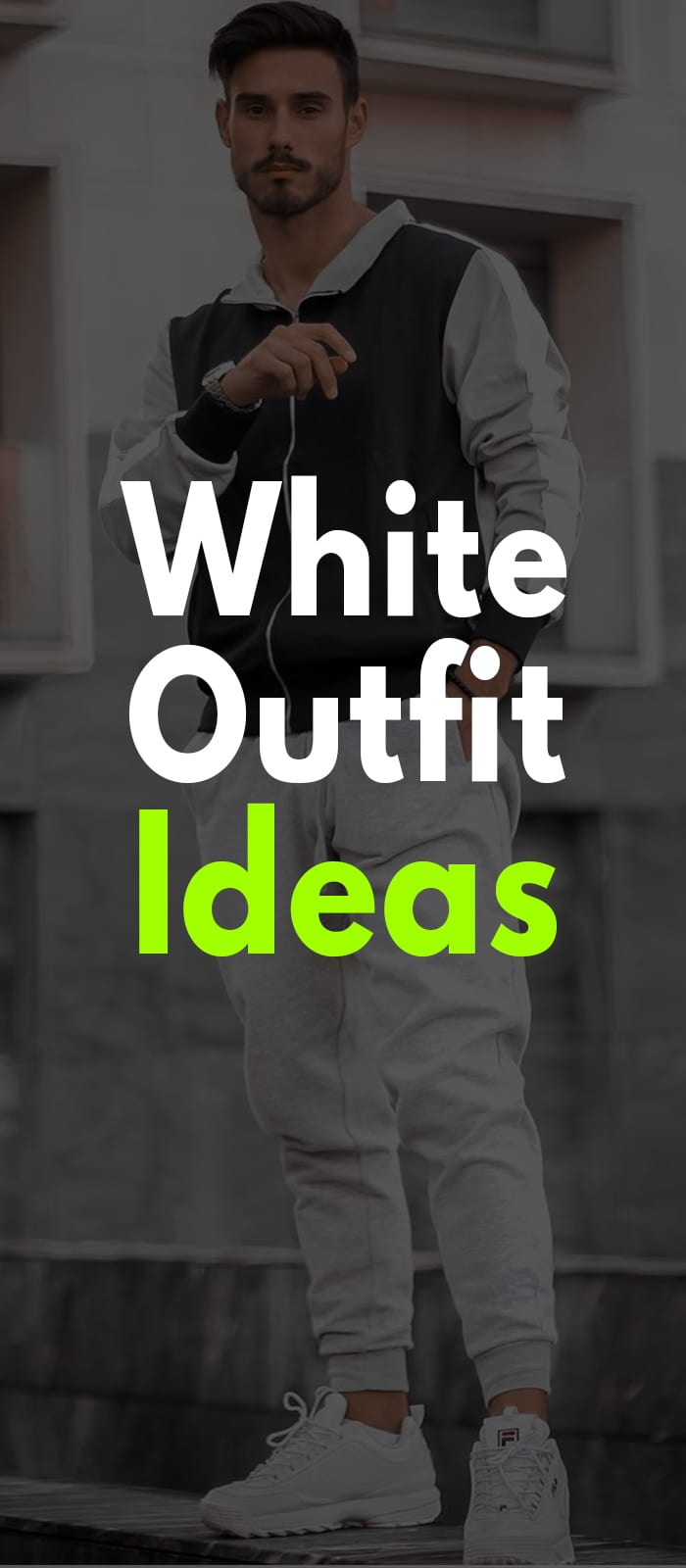 Cool white Joggers look for men to try
