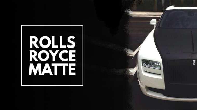 Matte Black & White Rolls Royce Ghost