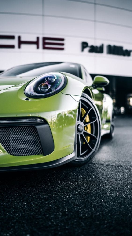 PORSCHE GT3 GREEN WALLPAPER