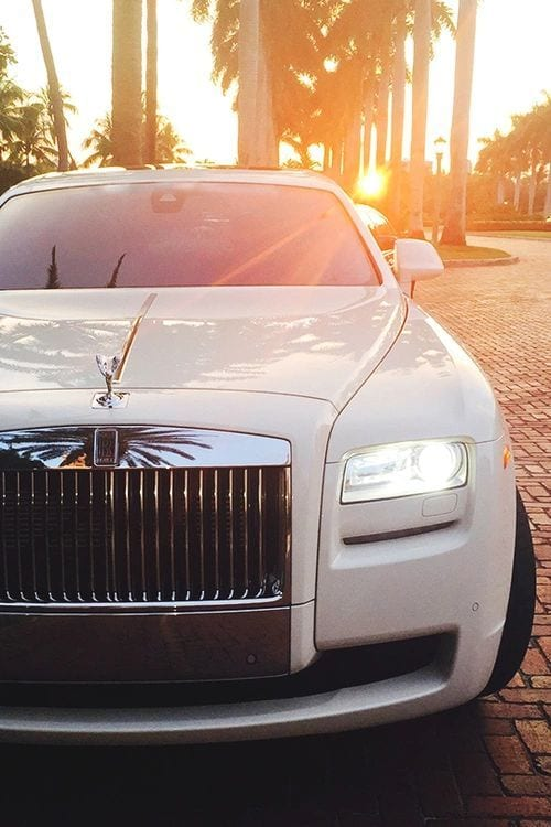 ROLLS ROYCE WHITE SUNSET