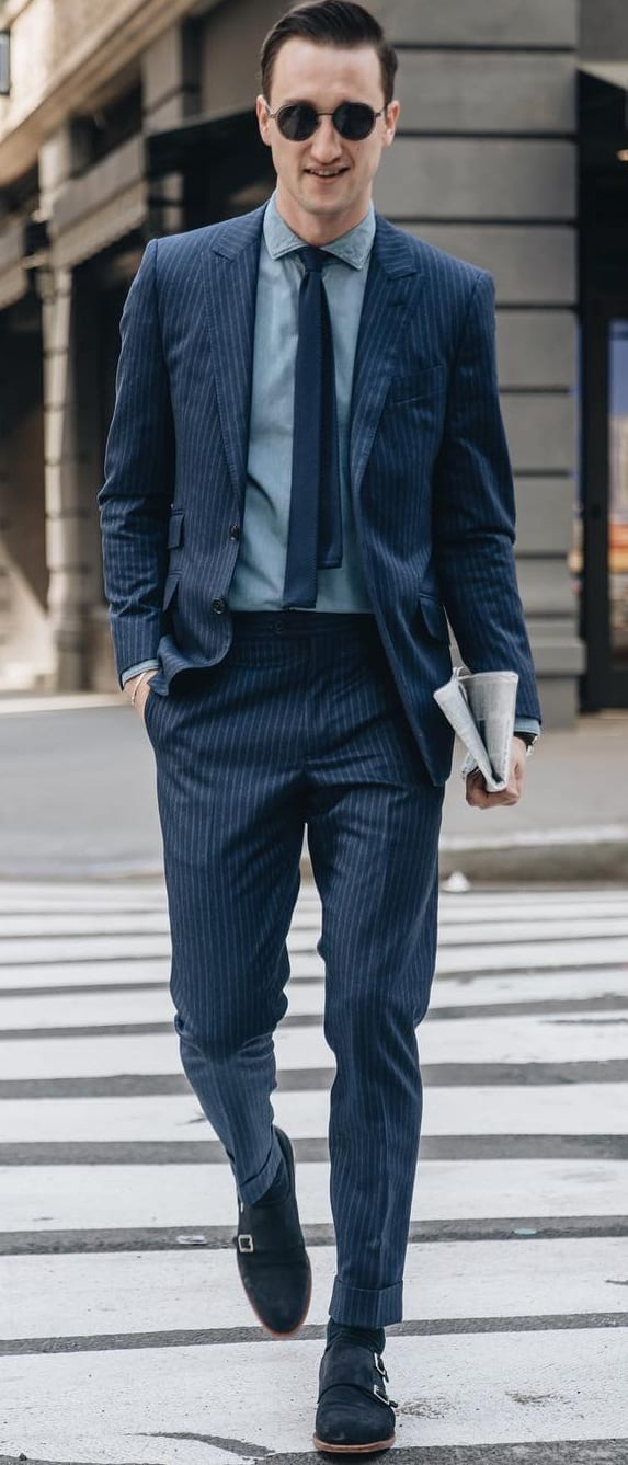 Blue Suit Outfit ideas for men to try