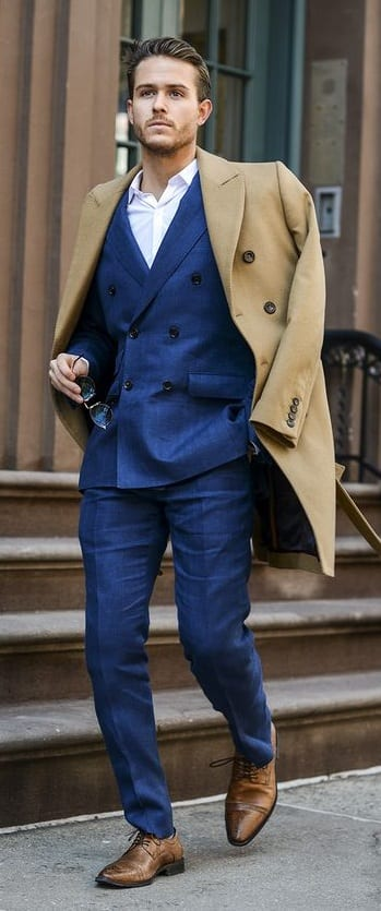 Blue Suit Outfit Ideas for men