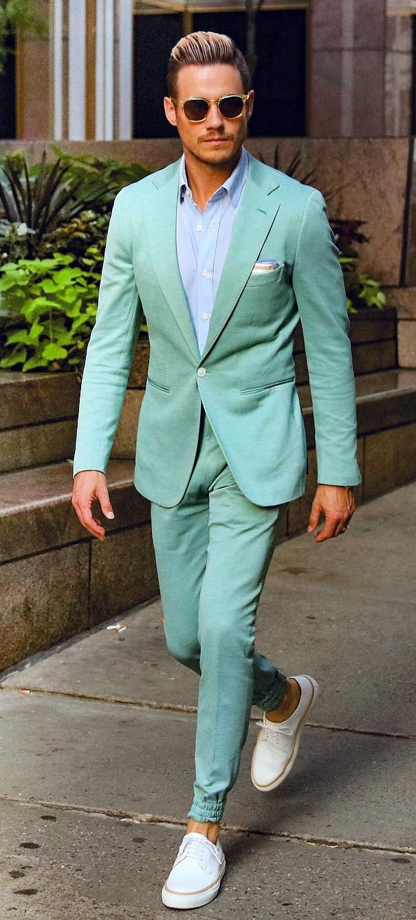 Green Suit Outfit for men
