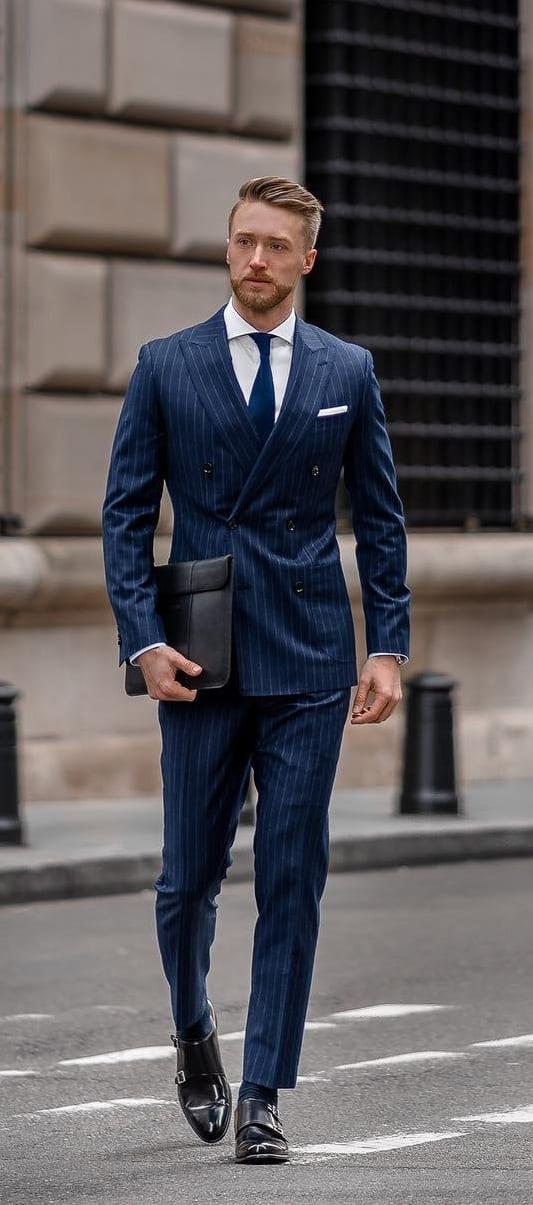 Mens Blue Suit Formal Ideas