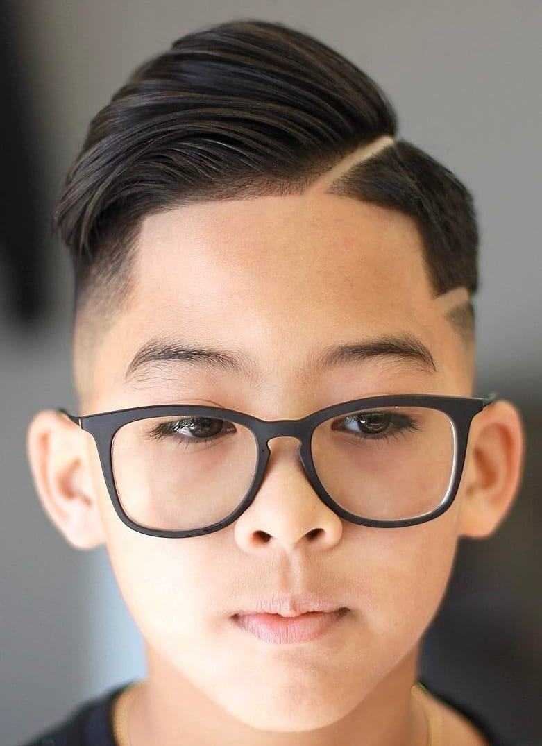 Pompadour and Fade- Kids Haircut for Boys