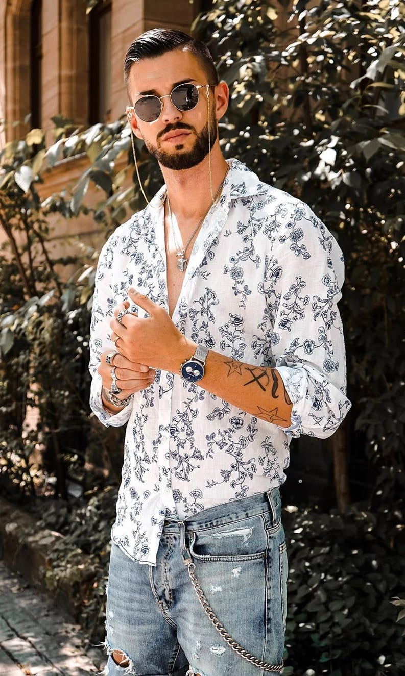 Casual Printed Shirt Outfits for men