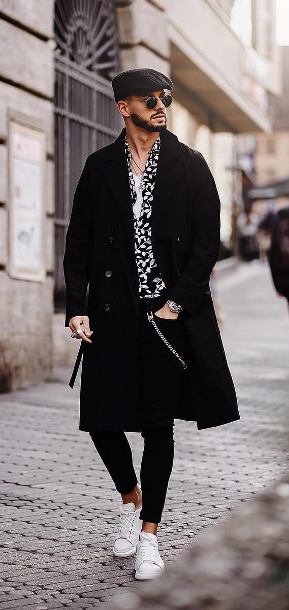 Black Overcoat Outfit for autumn