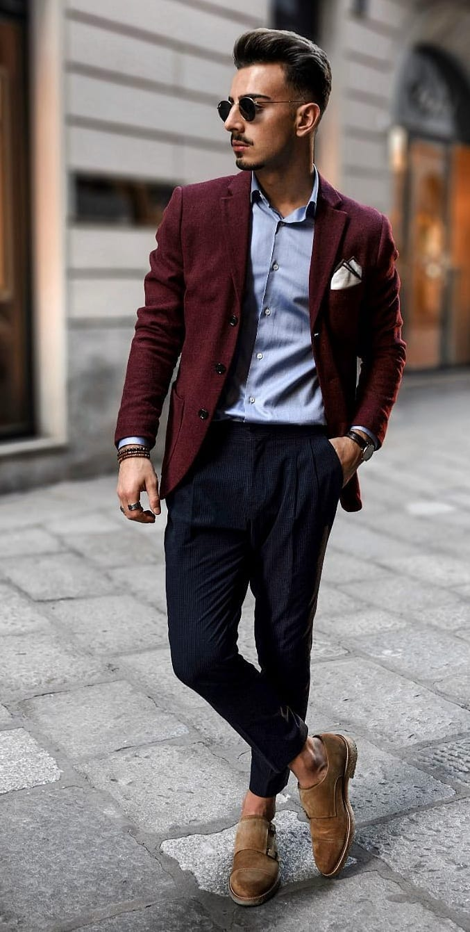 Blue Shirt, Chinos and Blazer For the Smart Casual Look