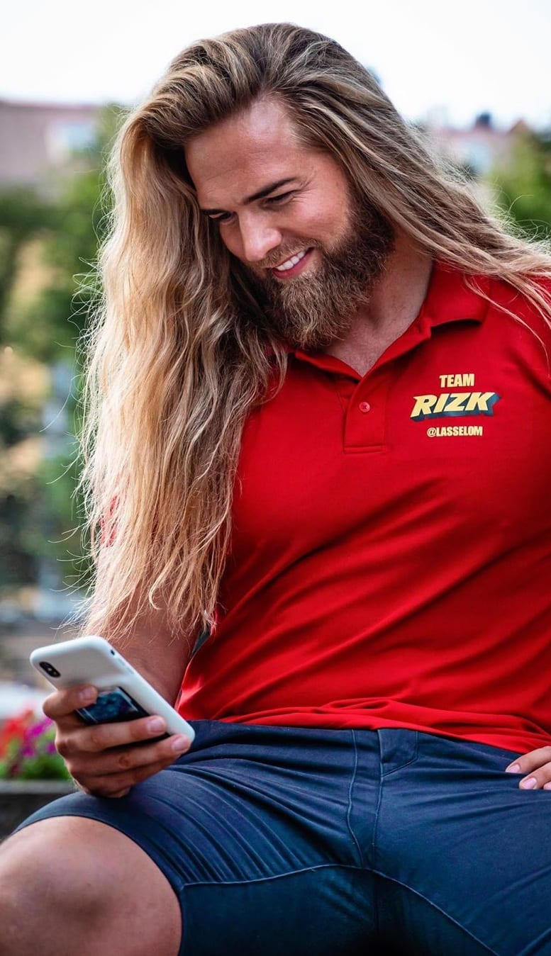 Long Straight Hair and Beard For Men