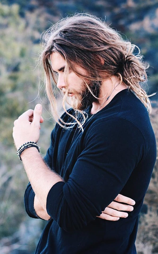 Sexy Long Messy Hair for men