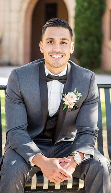 Grey Tuxedo with Black Tie Groom Outfit For Wedding