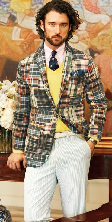 Multicolored Plaid Blazer outfit for Men