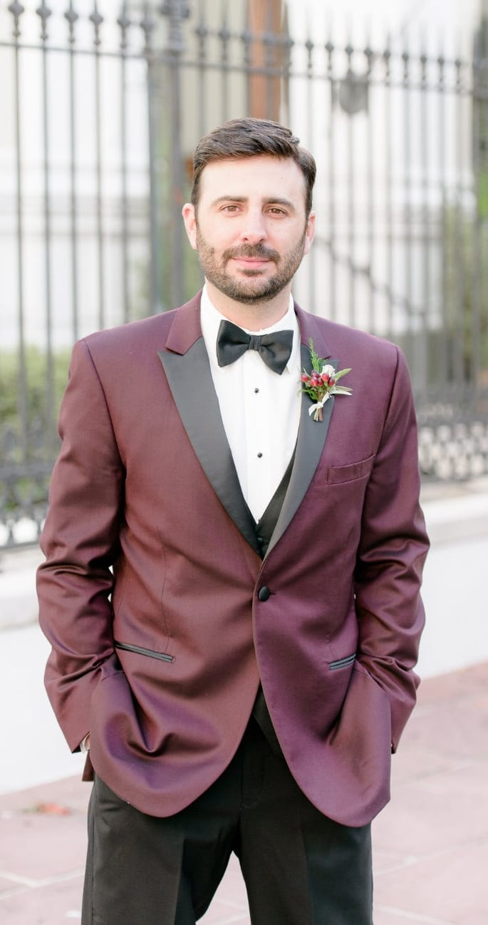 Purple Tuxedo Suit for Wedding Groom