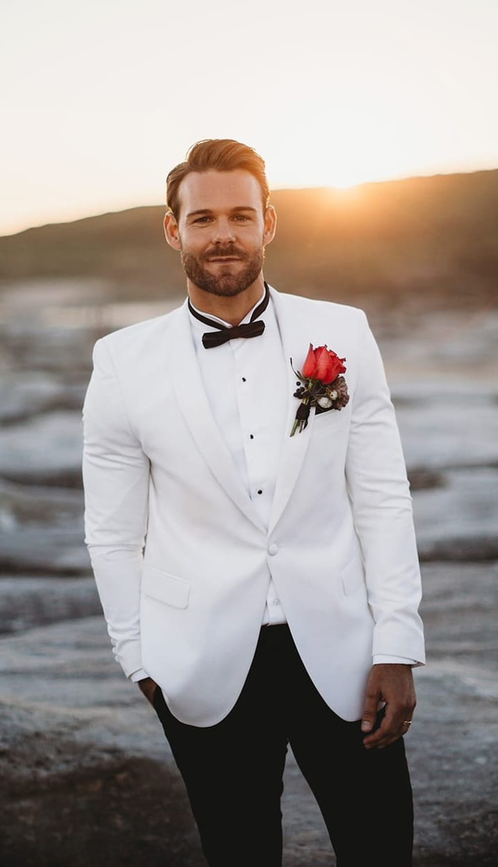 White Tuxedo Wedding Suit for Men