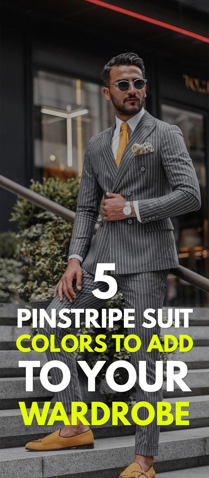Pinstripe Suit Colors for 2020