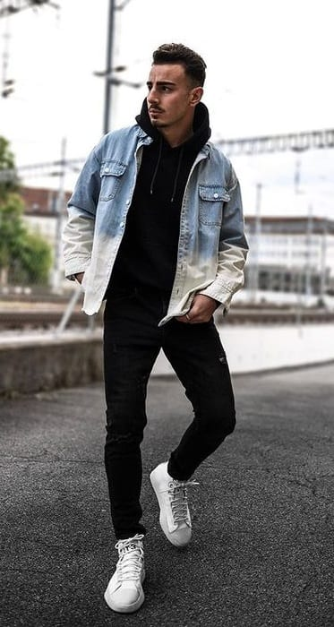 Black Outfit-Denim Jacket Look- Casual style for Men