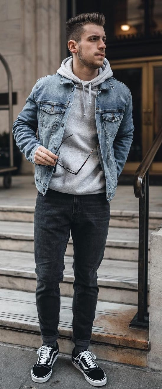 Blue-Denims-Grey-Hoodie-and-Black-Denims