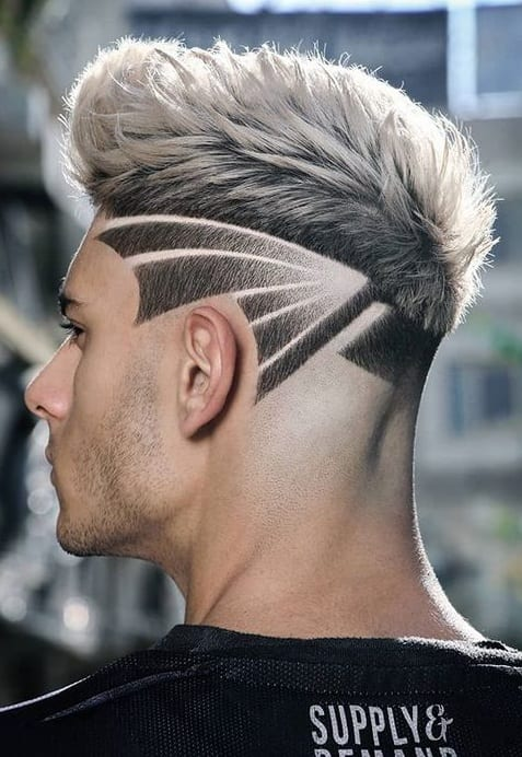Fade Design Haircut for New Year's Eve